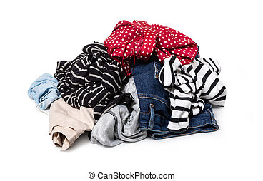 clothes on a white background
