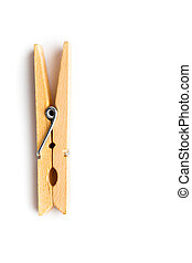 Clothes-peg against a white background