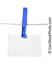Clothes peg and note paper