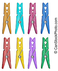 clothes peg laundry dry - collection of various clothes pegs...