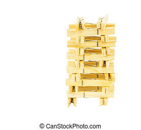 Clothes Peg - Clothes peg over white background
