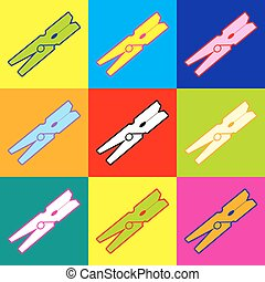 Clothes peg vector icon