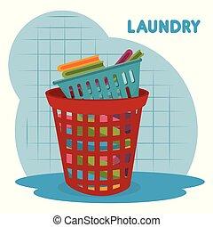 clothes plastic basket laundry service