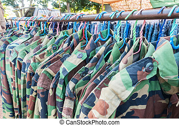 Clothes Rack clothing store in the market