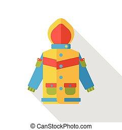 clothes raincoat flat icon