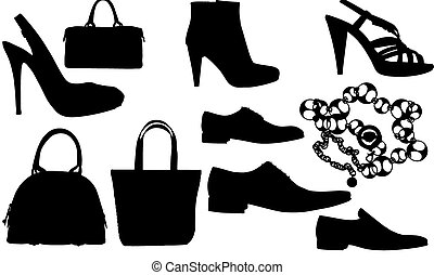 clothes silhuettes - Abstract vector silhuettes illustration...