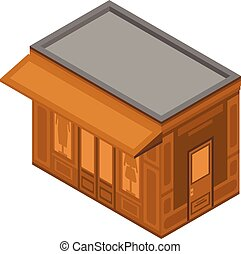 Clothes street shop icon, isometric style - Clothes street...