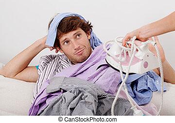 Clothes to iron