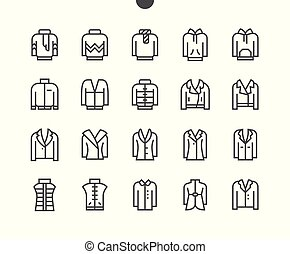 Clothes UI Pixel Perfect Well-crafted Vector Thin Line Icons 48x48 Grid for Web Graphics and Apps. Simple Minimal Pictogram Part 5-5