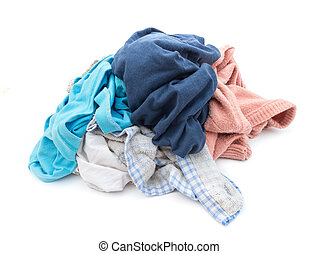 Clothes wait for clean washed, housework concept