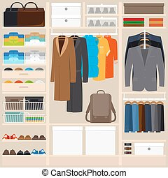 Clothes wardrobe vector illustration
