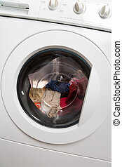 Clothes Washer close up shot