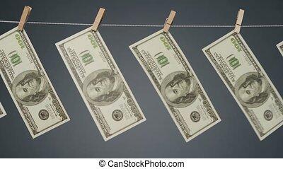clothesline, battement des gouvernes, corde