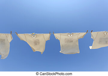 clothesline, t-shirts, pendre