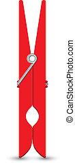 clothesp, vecteur, illustration, rouges