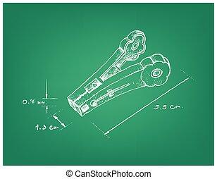 clothespin, 次元, 手, 引かれる, 止め釘, ∥あるいは∥, 衣服