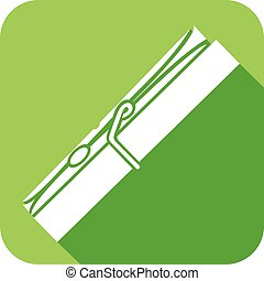clothespin flat icon