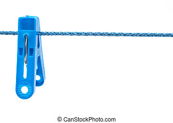 Clothespin hang on a cord