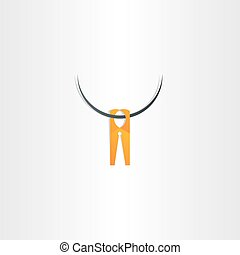 clothespin icon vector symbol
