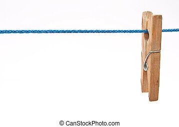 Clothespin on rope