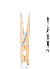 Clothespin against a white background