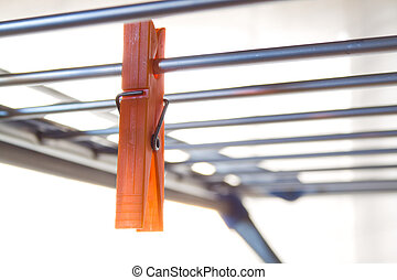 clothespin - closeup and backlight of clothespin in...