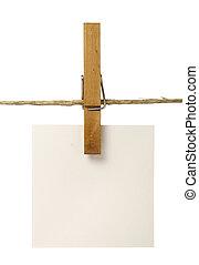 clothespins, 以及, notepads