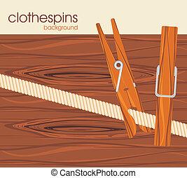 clothespins., fond