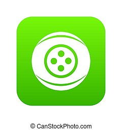 Clothing button icon green