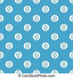 Clothing button pattern vector seamless blue