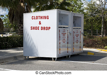 Clothing and shoe drop box to help the needy