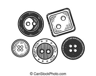 Clothing fashion button engraving vector illustration....