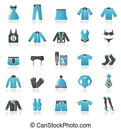 Clothing, Fashion collection icons