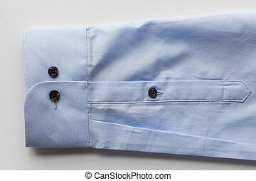 close up of blue shirt sleeve - clothing, formal wear,...