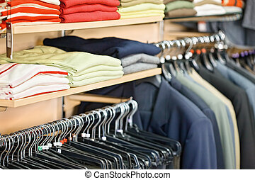Clothing in the store