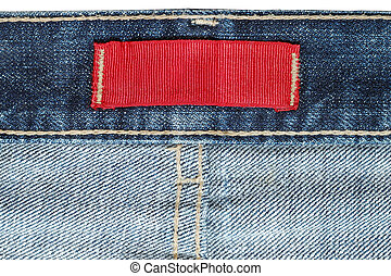 Clothing label inside jeans