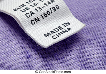 clothing label made in china cheap - close up clothing label...