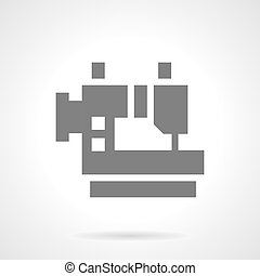 Clothing production glyph style vector icon