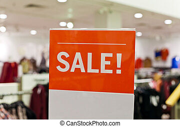 Clothing Sale - Shopping and Sale Sign