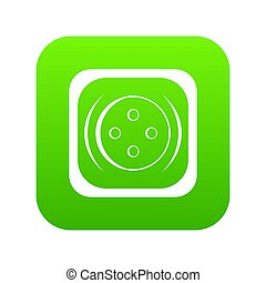 Clothing square button icon digital green