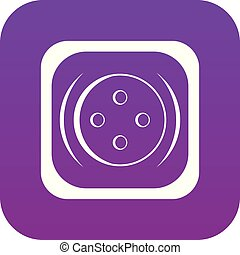 Clothing square button icon digital purple
