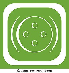 Clothing square button icon green