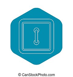 Clothing square button icon, outline style