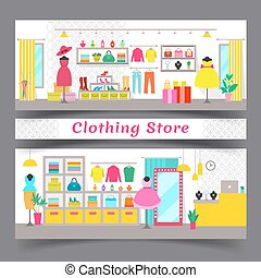 Clothing Store Full of Chic Fashionable Garments - Clothing...
