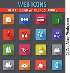 Clothing Store Icons set - Clothing Store web icons in flat...