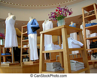 Clothing store - Interior shot of a clothing store