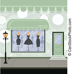Clothing store on the street.