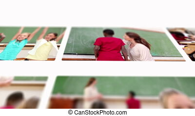 clou, élèves, prof, montage