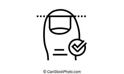 clou, animation, icône, ligne, coupure, correct