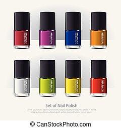clou, réaliste, polish?colorful, vecteur, illustration